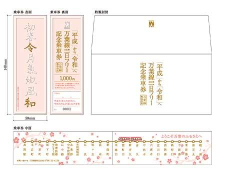 万葉線,「令和記念乗車券(1日フリー券)」発売