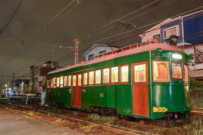 阪堺電気軌道モ161が工臨に使用される