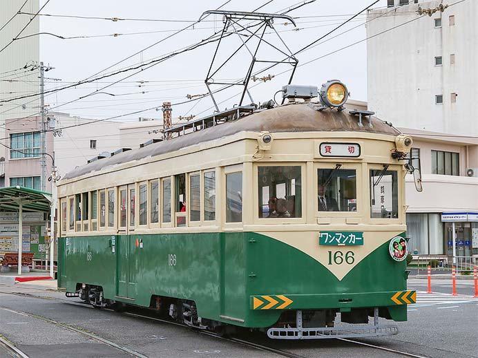 阪堺電軌でモ166による団臨運転