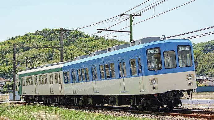 上信電鉄クハ1301の塗装が変更される