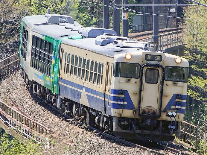 キハ48 516+「風っこ」が弘前へ
