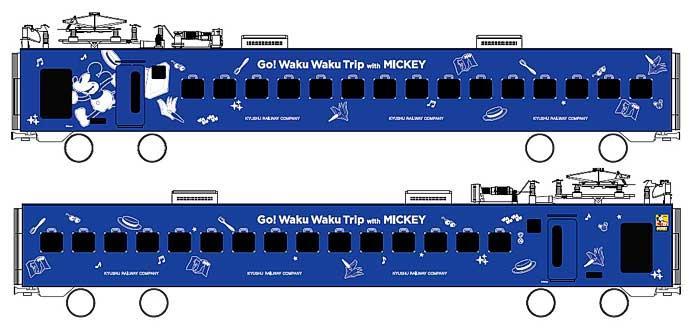 JR九州,5月30日から「JR九州 Waku Waku Trip 883系(ミッキーマウスデザイン)」を運転