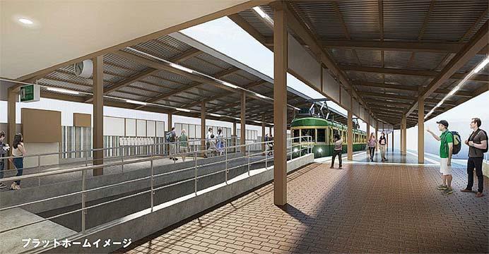 鎌倉駅プラットホームのイメージ