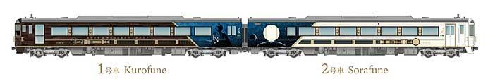 JR四国,観光列車「志国土佐 時代の夜明けのものがたり」の車内デザインなどを発表