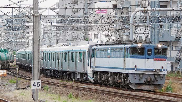 東急3020系第2編成が甲種輸送される