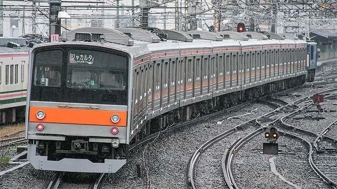 205系M27編成が新津へ配給輸送