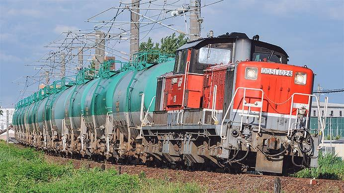 8075列車をDD51 1028が単機でけん引