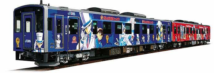 JR西日本・鳥取県,「名探偵コナンイラスト列車」1編成をリニューアル