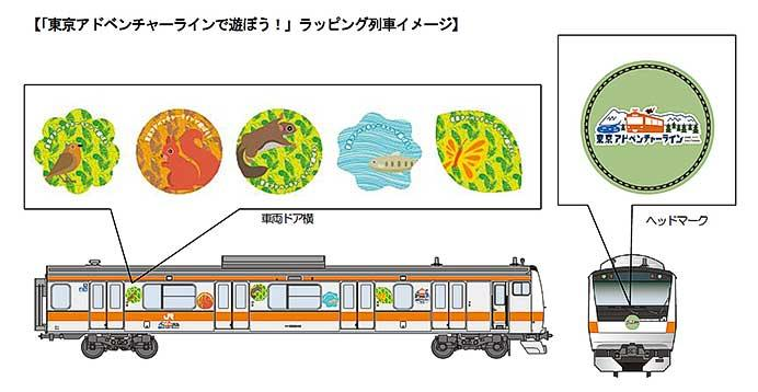 JR東日本,7月から「東京アドベンチャーラインで遊ぼう!」ラッピング列車を運転