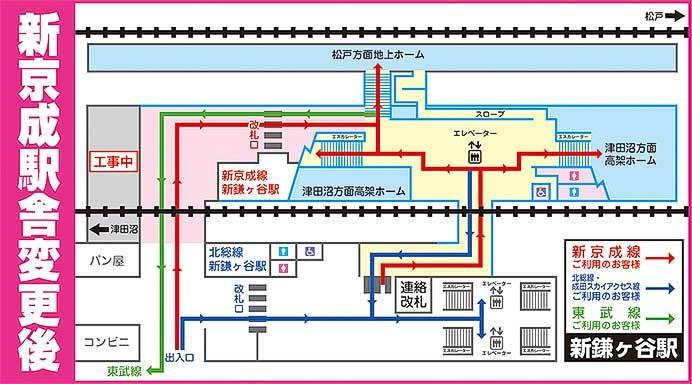 新京成,6月16日から新鎌ヶ谷駅に新京成線専用の改札口を設置