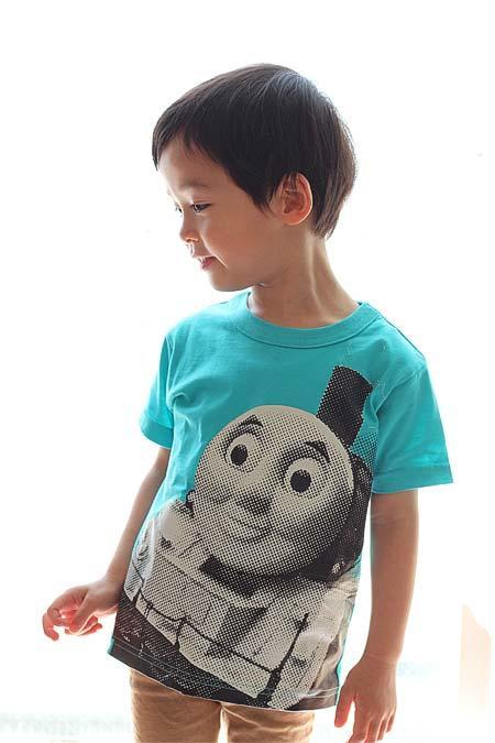 「大井川鐵道きかんしゃトーマス号×OJICO コラボレーションTシャツ」正面