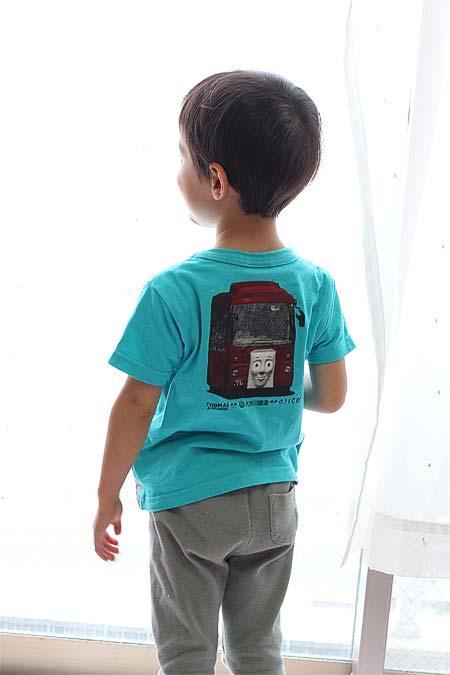「大井川鐵道きかんしゃトーマス号×OJICO コラボレーションTシャツ」背面