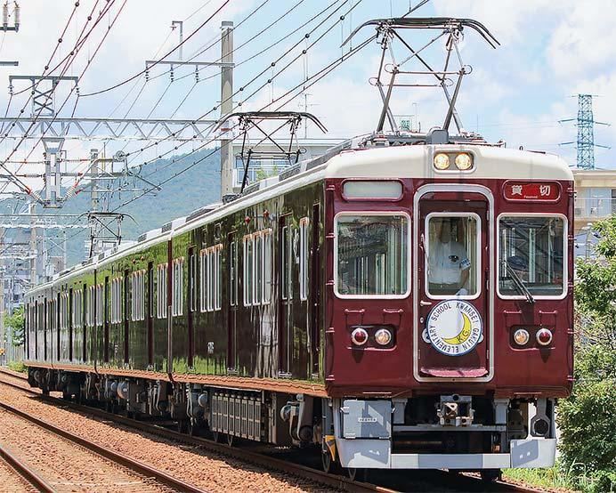 阪急今津線で6000系4連による団臨運転