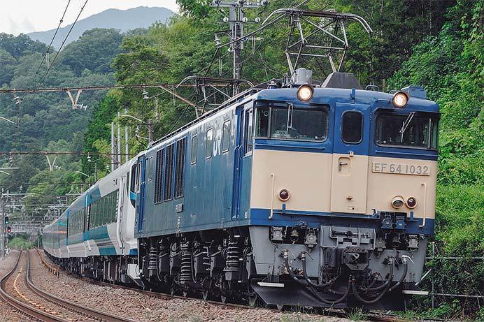 E257系2000番台NA-10編成が長野から尾久へ