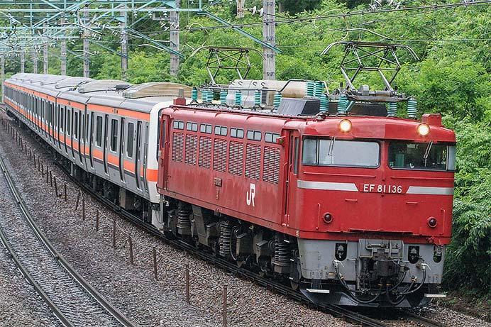 209系500番台8両が配給輸送される