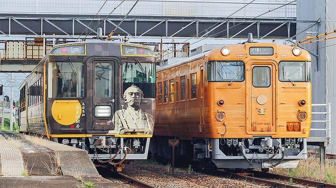 予讃線で「夕焼けビールトロッコ列車」運転