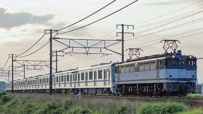 東京メトロ13000系第35編成が甲種輸送される