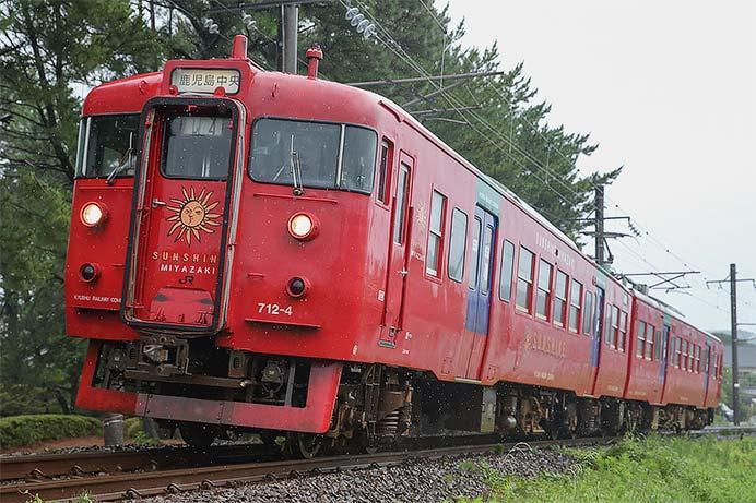 713系が鹿児島中央行き定期列車に充当される