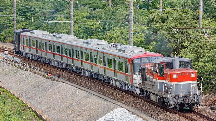 名鉄9500系が甲種輸送される