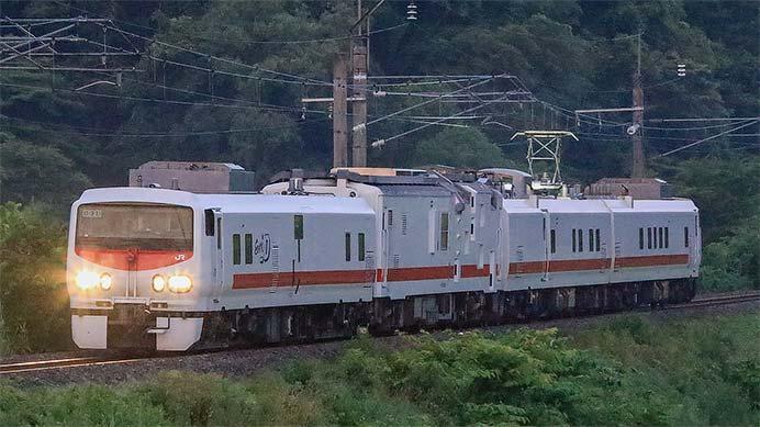 キヤE193系+マヤ50が奥羽本線に入線