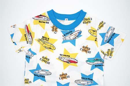 「新幹線大集合Tシャツ(星柄)」発売