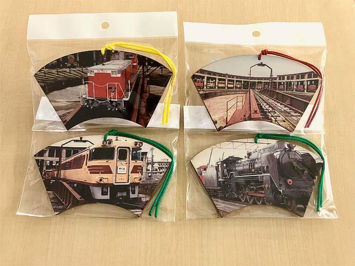 津山まなびの鉄道館で「扇形絵馬」を発売
