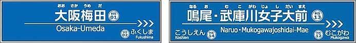 阪神, 10月1日から梅田・鳴尾の駅名を変更