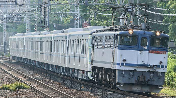 東京メトロ13000系第37編成が甲種輸送される