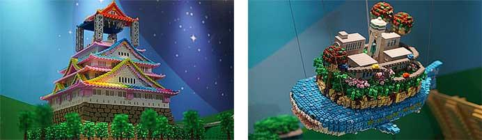 阪急三番街「HANKYU BRICK MUSEUM」に,レゴ®ブロックによる「京とれいん雅洛」を展示