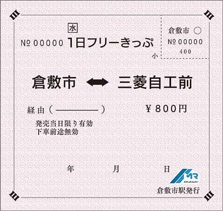 水島臨海鉄道,お盆・夏休み期間中限定の「1日フリーきっぷ」発売
