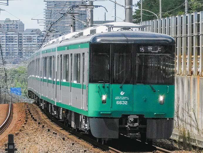 神戸市交6000形6132編成が営業運転を開始