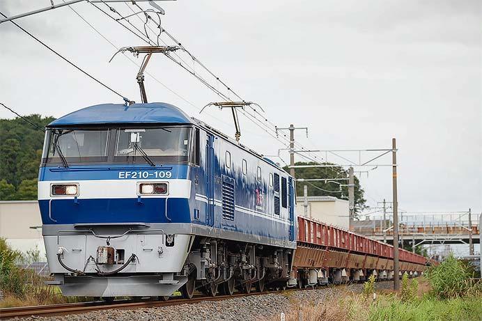 EF210-109が石灰石輸送列車を代走けん引