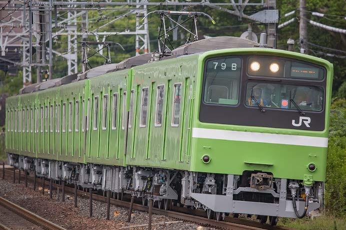 201系ND614編成の床下機器が灰色に 鉄道ニュース 2019年8月20日掲載 ...