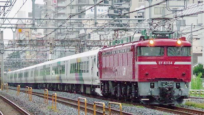 E257系M-109編成が秋田総合車両センターへ