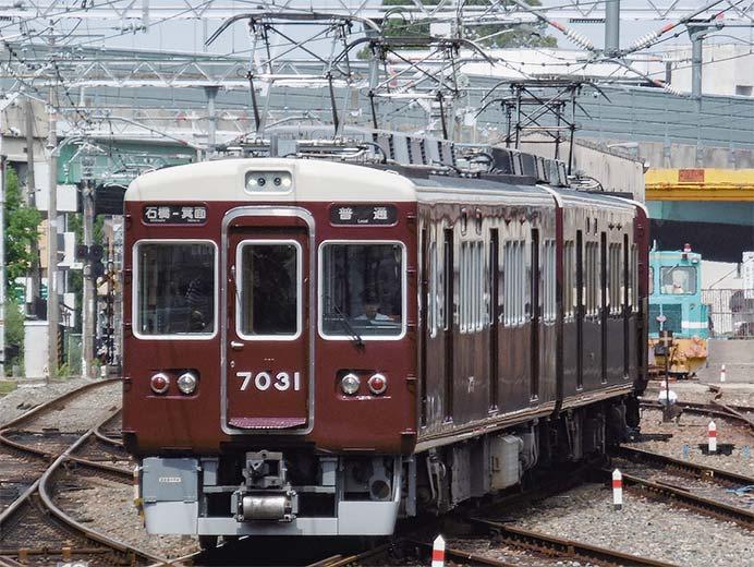 阪急7000系7031編成が箕面線の運用に