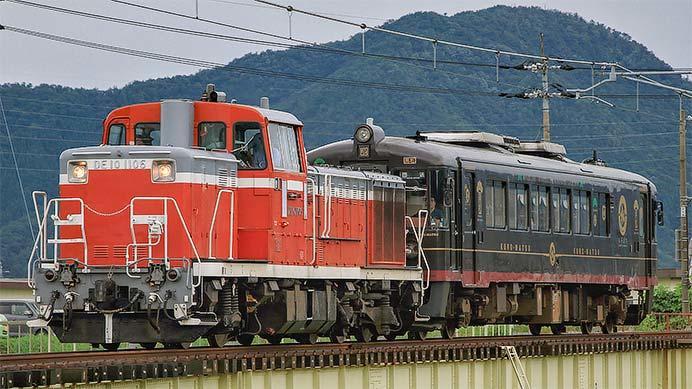 小浜線でDE10 1106+丹鉄「くろまつ」の試運転