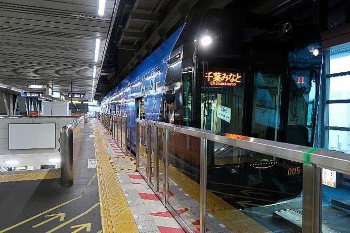 千葉都市モノレール,千葉駅へのホーム柵設置が完了
