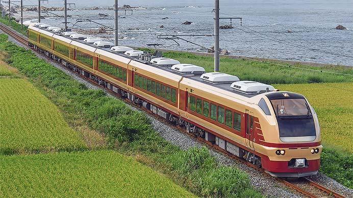 国鉄特急色のE653系1000番台(K70編成)が羽越本線に入線