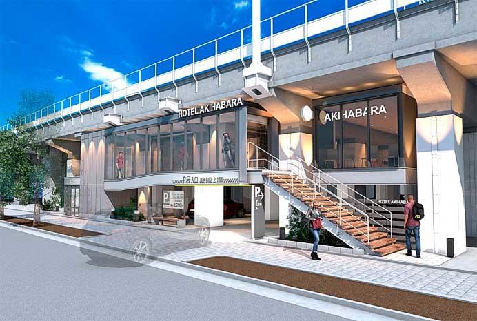 秋葉原—御徒町間の高架下に集合店舗と宿泊施設を建設