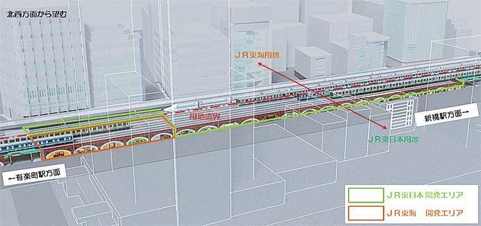 JR東日本・JR東海,有楽町—新橋間の高架下に新たな商業空間などを開発