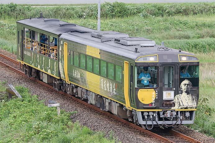 「幕末維新号」が土佐くろしお鉄道に入線