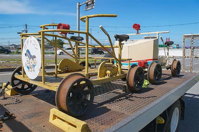 近江鉄道の軌道自転車2台が保存へ