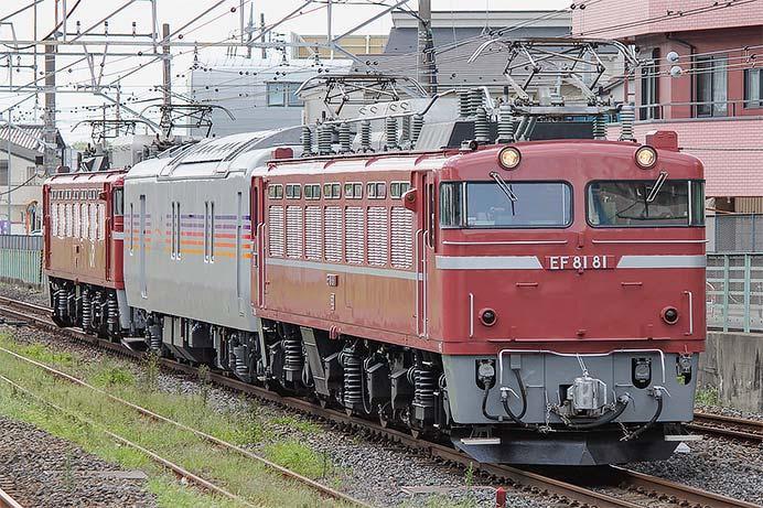 カヤ27形を使用した試運転列車が運転される