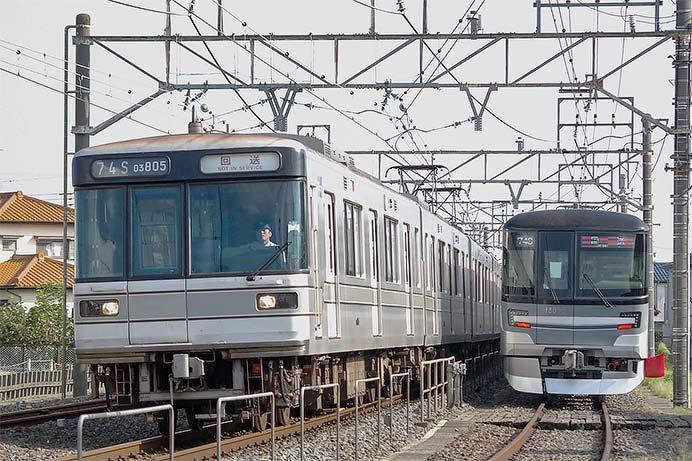 東京メトロ03系第5編成が北館林荷扱所へ