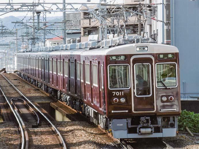 阪急7000系7011編成がリニューアルされる