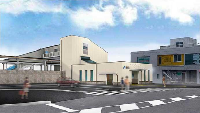 JR西日本,南岩国駅新駅舎のデザインを発表