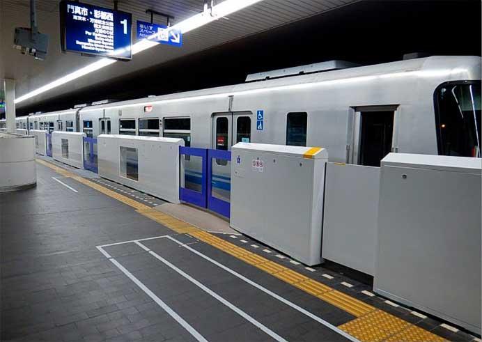 大阪モノレール,彩都西駅で可動式ホーム柵の設置に着手
