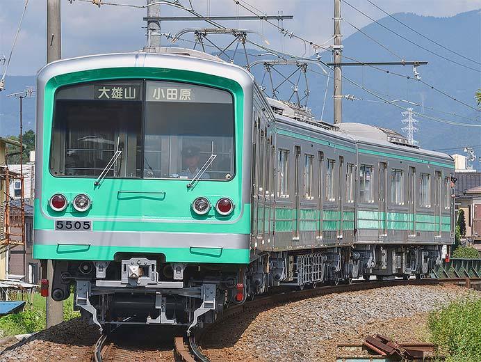 伊豆箱根鉄道大雄山線で「ミント・スペクタクル・トレイン」の運転開始