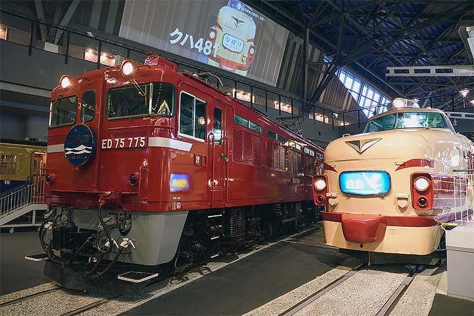 """鉄道博物館の485系に""""白鳥""""ヘッドマーク"""