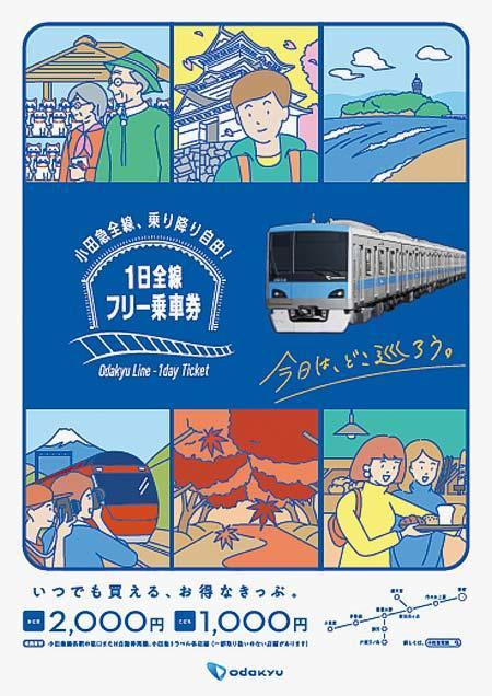 小田急「1日全線フリー乗車券」を通年発売